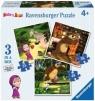 Puzzle Masza i Niedźwiedź 3w1 (070275)