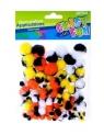 Ozdoba dekoracyjna kolorowe pompony 80szt