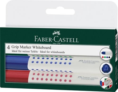 Grip Marker Faber-Castell suchościeralny etui 4 sztuki