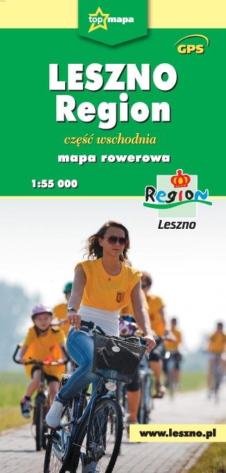 Leszno Region- mapa rowerowa cz. wschodnia 1:55 000 praca zbiorowa