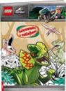 Lego Jurassic World. Kolorowanka z Naklejkami (NA6201)