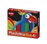 Plastelina fluorescencyjna Mona 6 kolorów