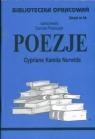 Biblioteczka Opracowań Poezje Cypriana Kamila Norwida