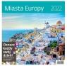 Kalendarz 30 x 30 z naklejkami. Miasta Europy 2022
