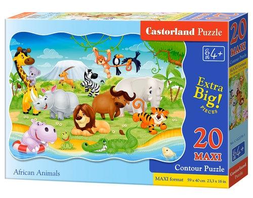 Puzzle maxi konturowe: African Animals 20 elementów (02276)
