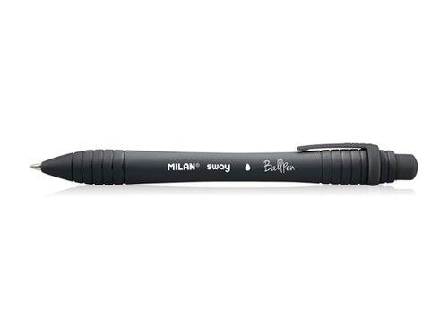 Długopis Milan Sway czarny 19 sztuk