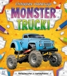 Chłopiec koloruje Monster trucki