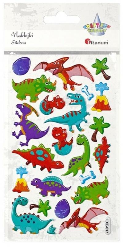Naklejki wypukłe dinozaury 23szt