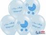 Balon gumowy Partydeco 30cm Nasz Mały Chłopczyk, P. Blue (1 op. / 6 szt.) niebieski jasny 300 mm (SB14P-220-011-6)