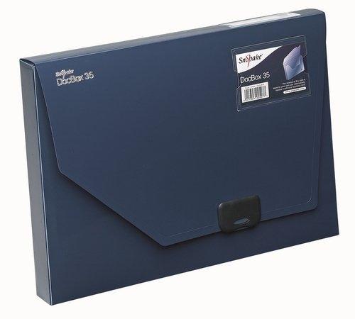Pudełko na dokumenty A4 35mm niebieskie