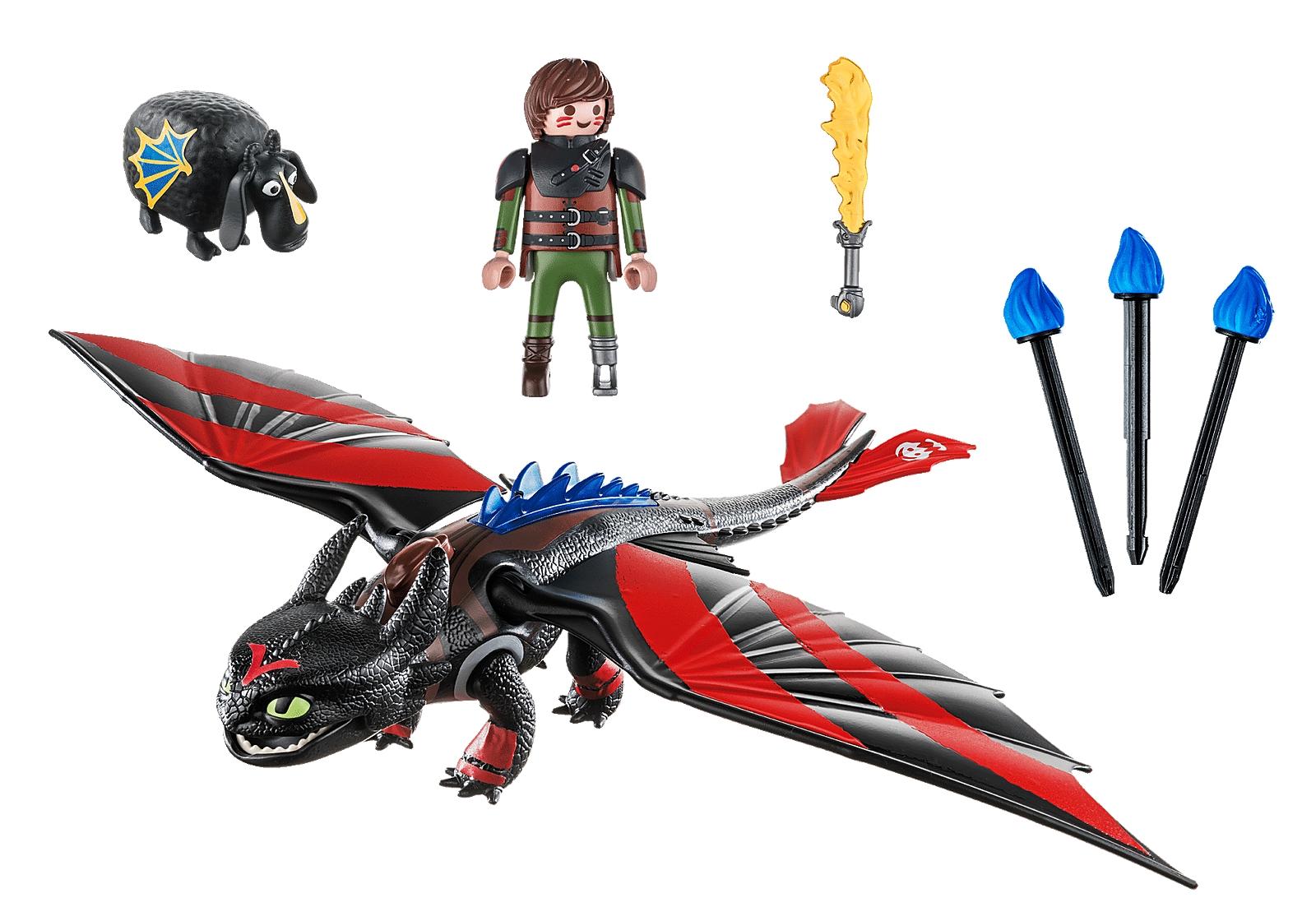 Playmobil Dragon Racing: Szczerbatek i Czkawka (70727)