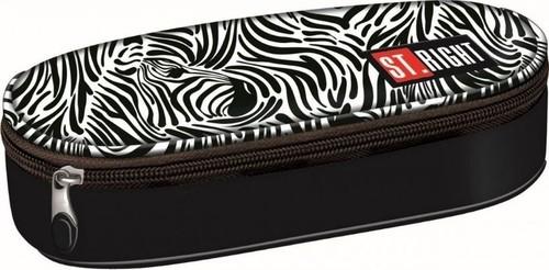 Piórnik saszetka usztywniona wewnętrzną klapką Zebra