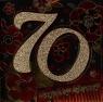 Karnet kwadrat 70 Urodziny brokat mix CB-07