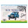Blok techniczny A4/10k biały (7619) mix wzorów