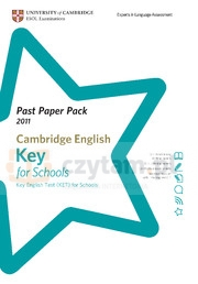 Camb English Key for Schools 2011 Exam Papers and Teachers' Booklet with Audio CD Corporate Author Cambridge ESOL
