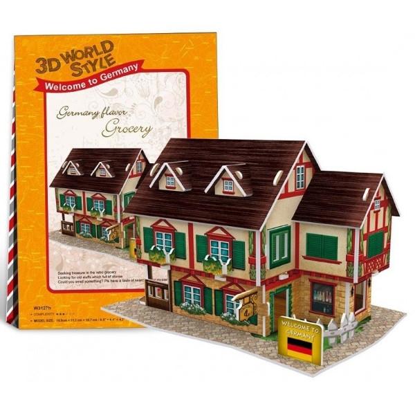 Puzzle 3D: Domki świata - Niemcy, Grocery Shop (306-23127)