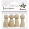 Ozdoba drewniana Titanum Craft-fun figurki drewniane naturalna 4 szt