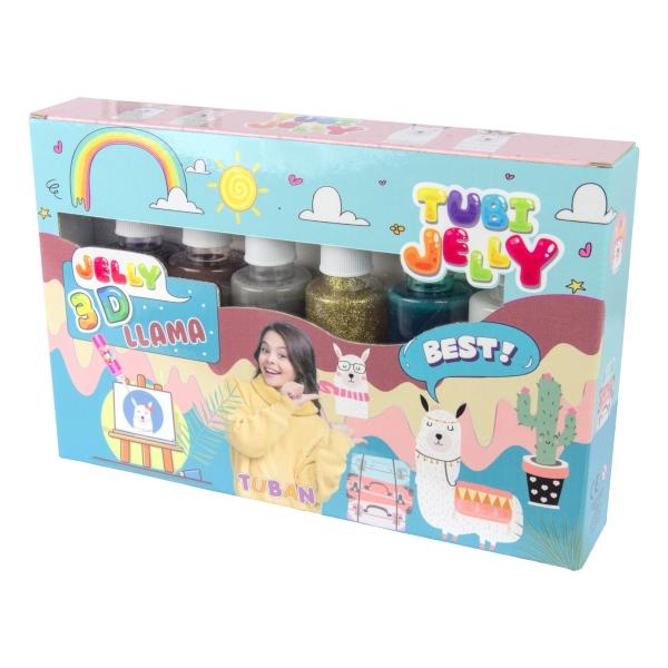 Zestaw Tubi Jelly 6 kolorów - Lama (TU3327)