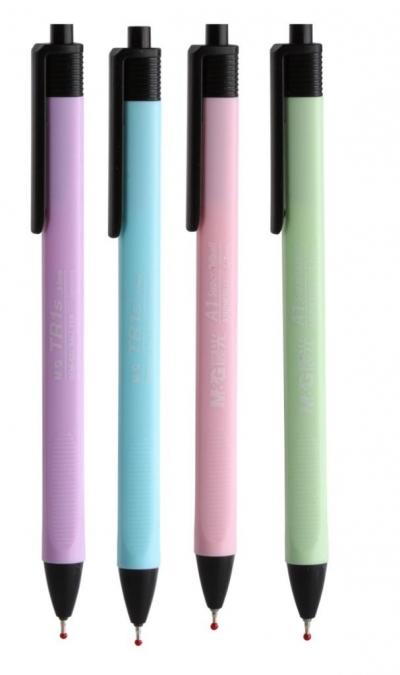 Długopis żelowy aut. TR1s 0,7mm niebieski 4szt M&G