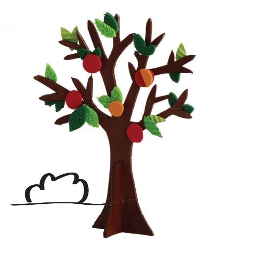 Kształty kartonowe 3D Drzewa (450748)