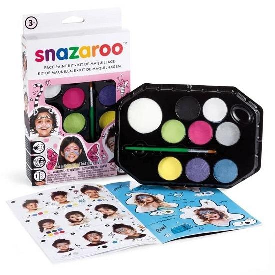 Farby do malowania twarzy, 8 kolorów - Dziewczynki