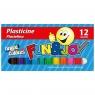 Plastelina 12 kol Fun&Joy (mix)