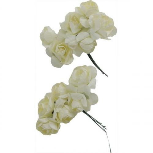 Różyczki papierowe - kremowe (396494)
