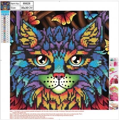 Mozaika diamentowa 5D 30x30cm Cat 89628