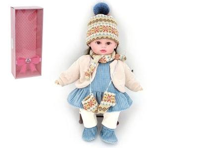 Lalka Adar 40cm, w zimowym ubranku, z dźwiękiem: śpiewa i mówi po polsku 400 mm (526280)
