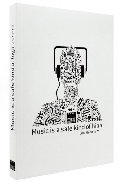 Notatnik ozdobny A4/160K stron gładki Music
