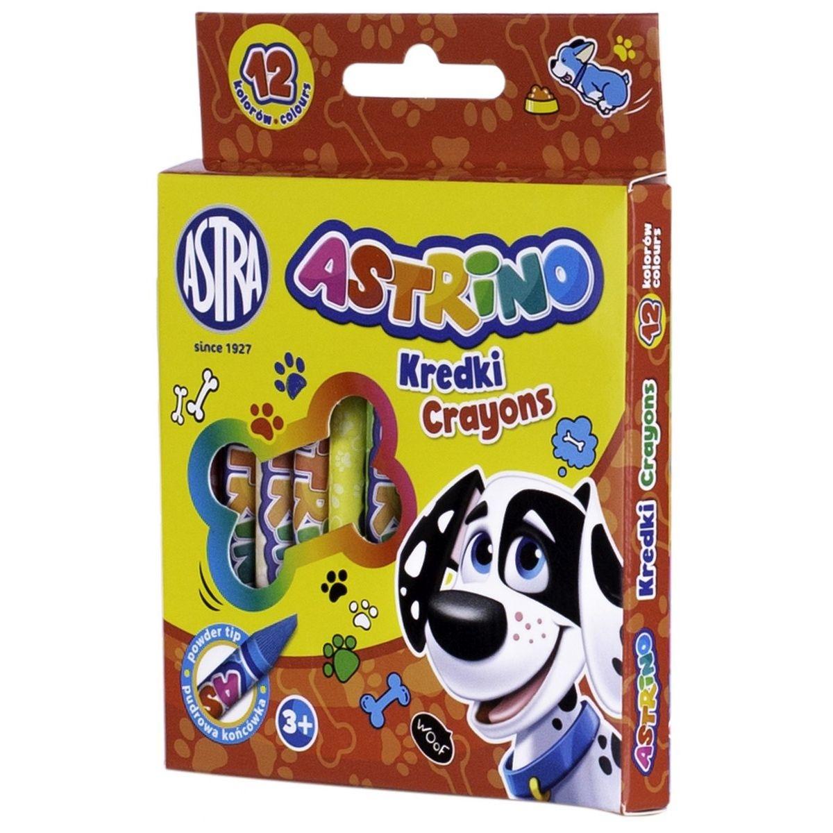 Kredki świecowe Astrino grafionowe, 12 kolorów (316121001)