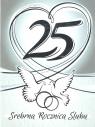 Karnet 25 rocznica ślubu RS0325