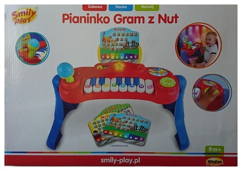 Pianinko Gram z nut Smily play