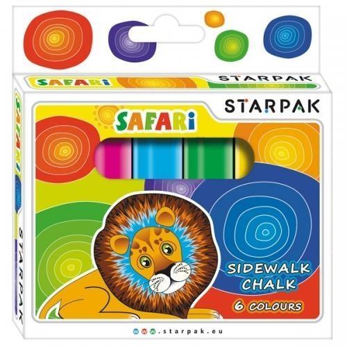 Kreda chodnikowa Safari, 6 kolorów (222584)