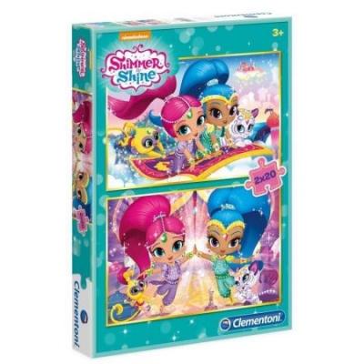 Puzzle 2x20 elementów Shimmer i Shine