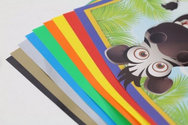 Wycinanka A5, papier kredowy - 8 kolorów (603528)