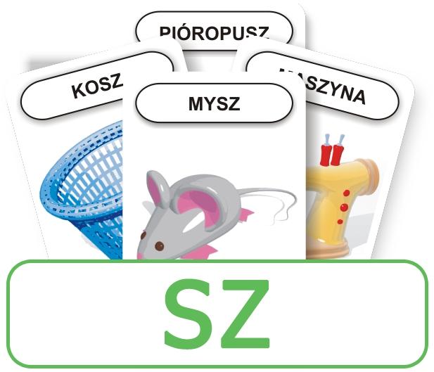 Karty: Logopedyczny Piotruś - Część I, głoska SZ
