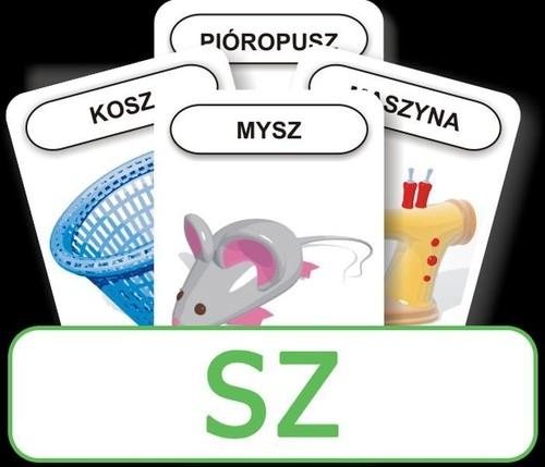 Karty Logopedyczny Piotruś - SZ