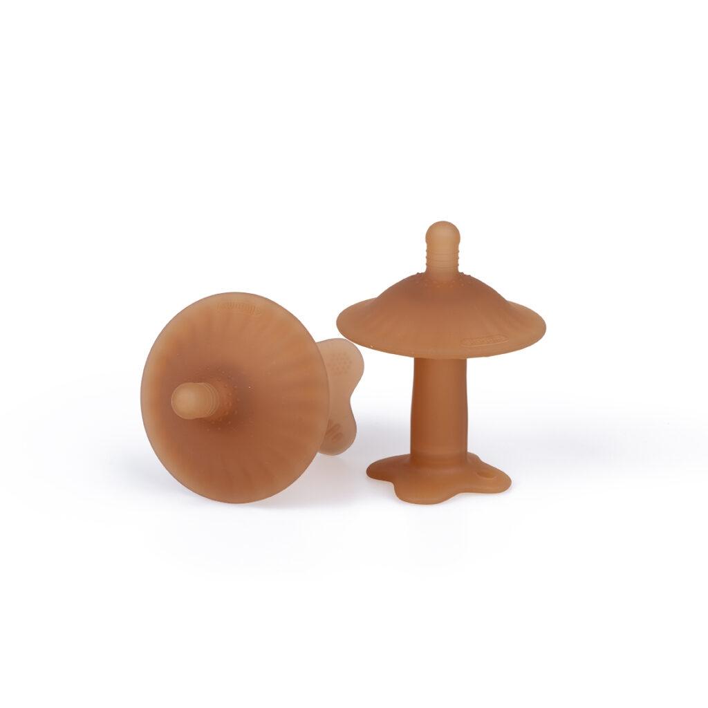 Gryzak logopedyczny grzybek brązowy (10328)