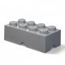 Lego, pojemnik klocek Brick 8 - Ciemnoszary (40041754)