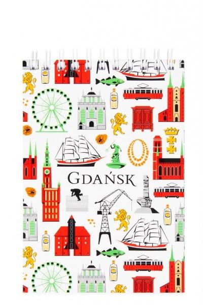Notes A6 - mały Gdańsk symbole FOLKSTAR