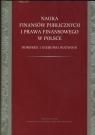 Nauka finansów publicznych i prawa finansowego w Polsce Dorobek i Pomorska Alicja