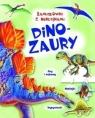Łamigłówki z naklejkami Dinozaury praca zbiorowa
