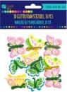 Naklejki 3D z pianki  brokat - motyle, 12 szt. (KSPI-039)