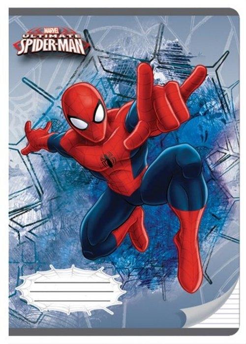 Zeszyt A5 w trzy linie 16 kartek Spider-Man 5 sztuk