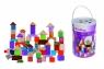 Klocki drewniane kolorowe wiaderko 100 elementów (100002228)