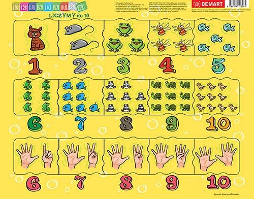 Puzzle ramkowe - Cyferki dla dzieci