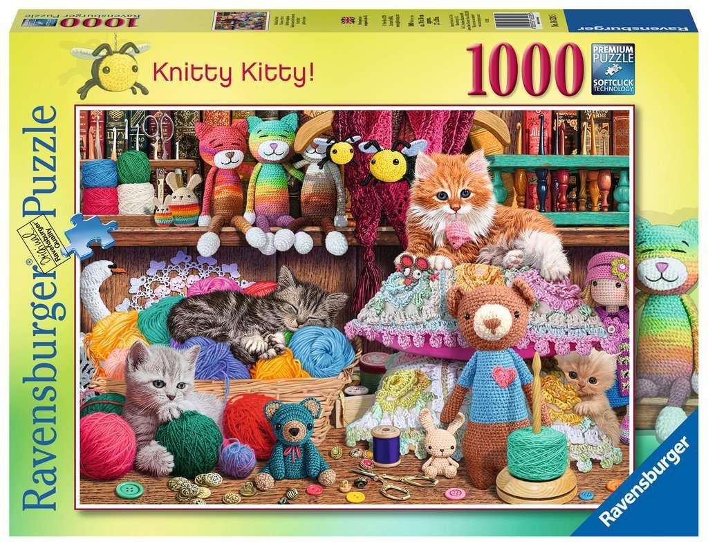 Puzzle 1000: Zaplątane kociaki (16528)