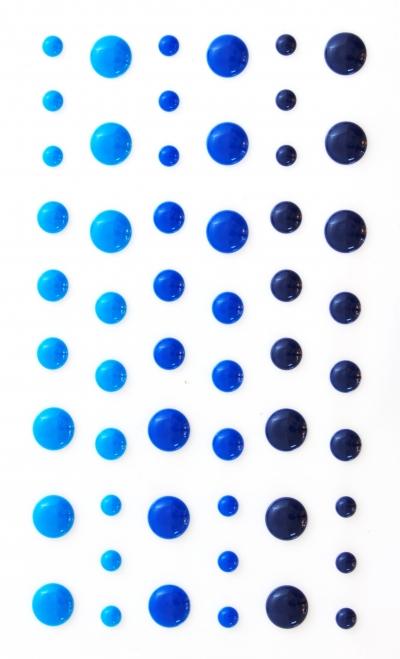 Kryształki Galeria Papieru kropki samoprzylepne emaliowane 54 szt. niebieski (251117)