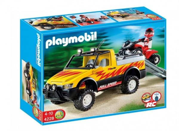 Zestaw z pojazdem Action 4228 Pick-up z quadem wyścigowym (4228)